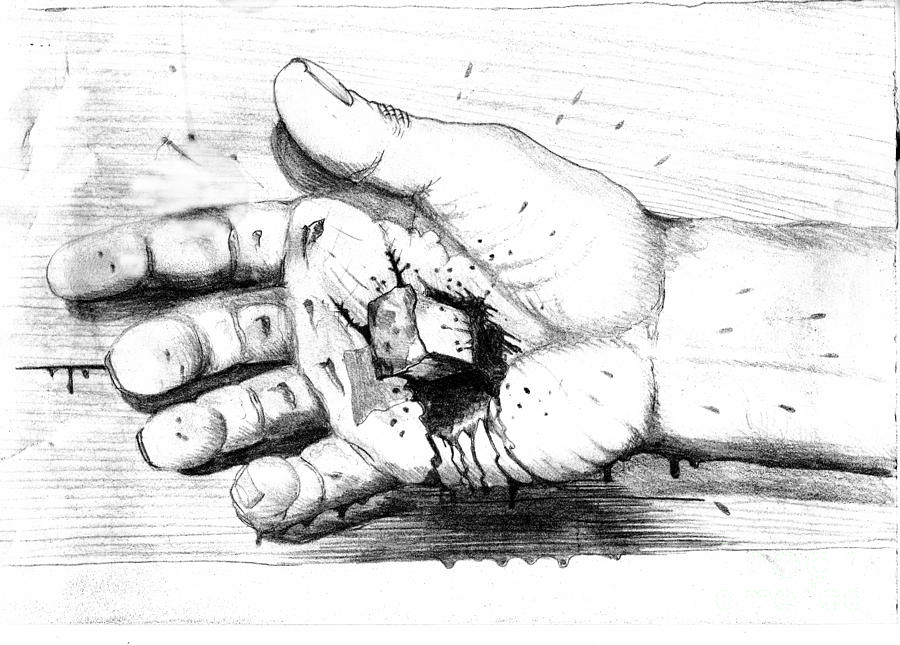 Your Life Is In His Hands Drawing by Randall Easterling