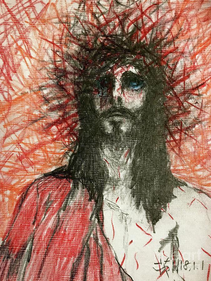 Jesus Drawing - Your Love And Forgiveness by Wonju Hulse