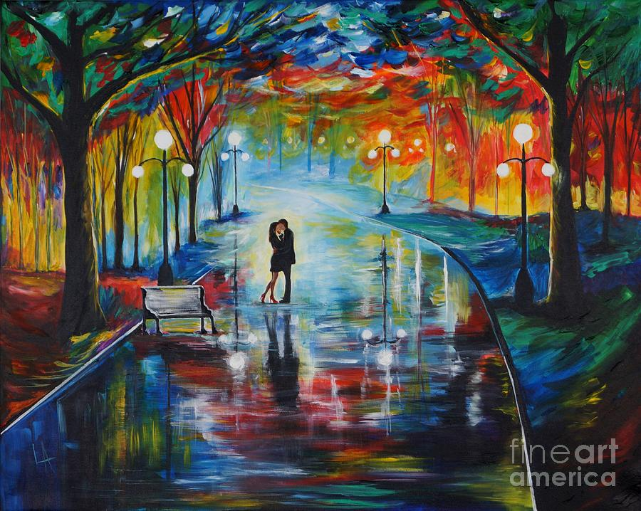 Couple Painting - Your Love by Leslie Allen