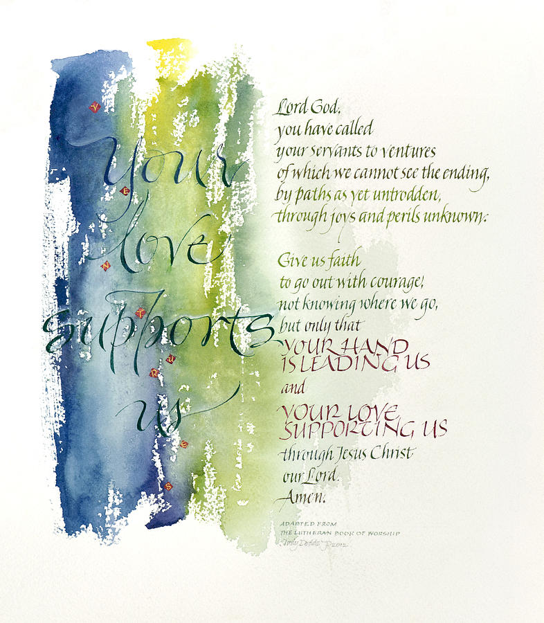 Anniversaries Painting - Your Love Supports Us by Judy Dodds