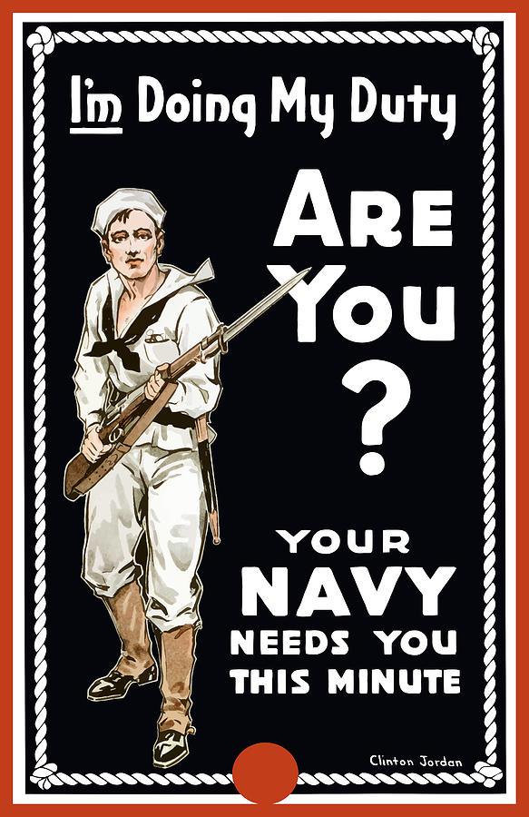 Navy Painting - Your Navy Needs You This Minute by War Is Hell Store