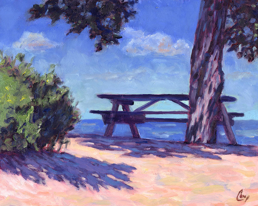 Beach Painting - Your Table Is Waiting by Michael Camp