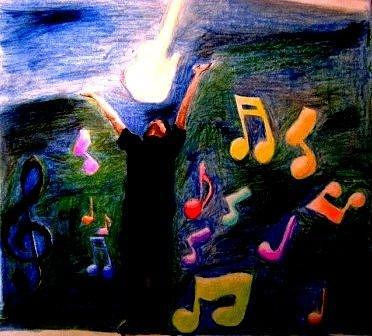 Music Painting - Your The Creator by Francisco Luna