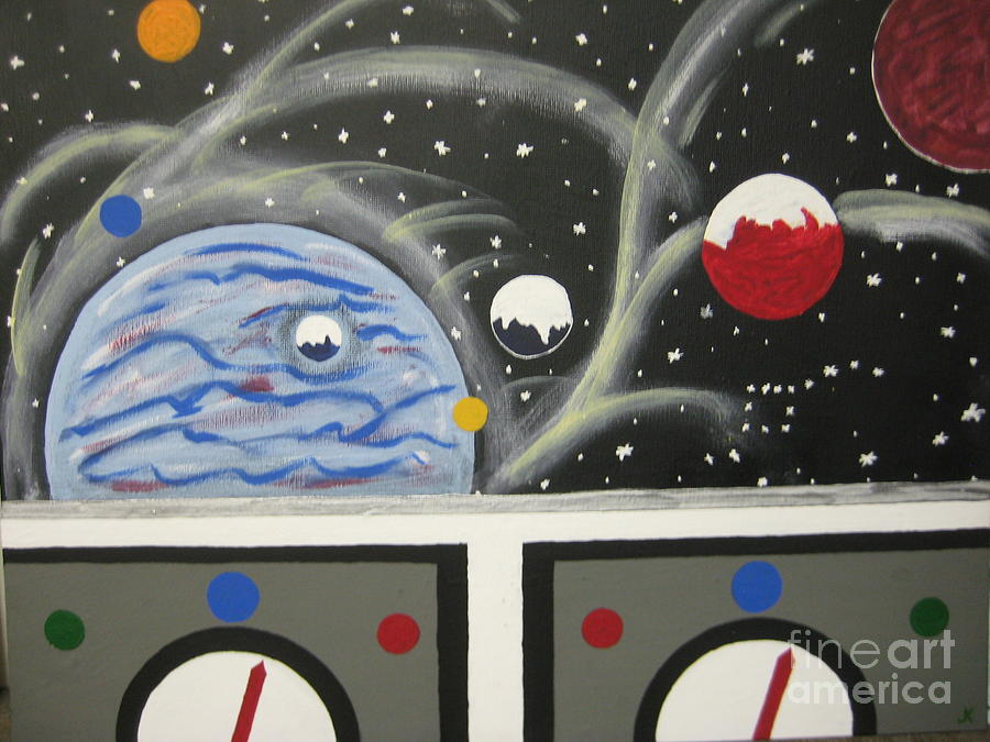 Outer Space Painting - Your The Pilot  by Jeffrey Koss