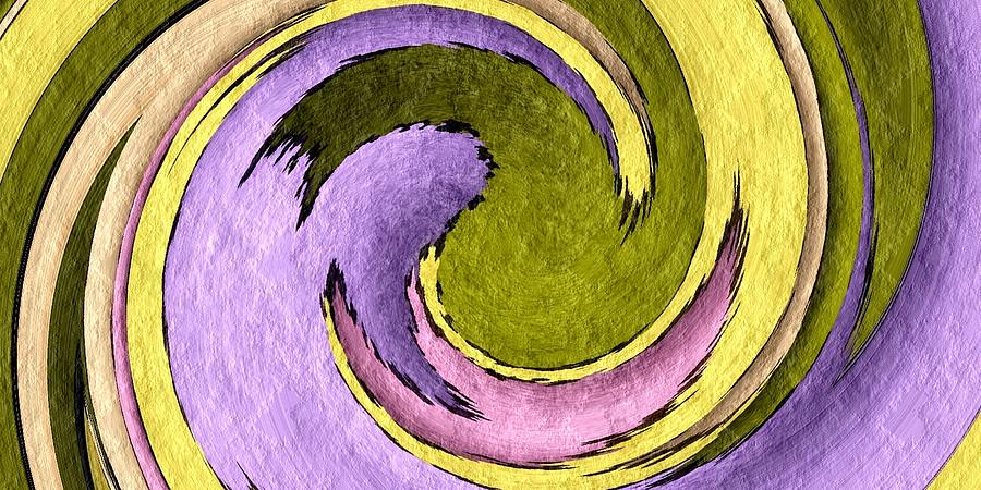 Abstract Digital Art - Your Ying To My Yang by Terry Mulligan