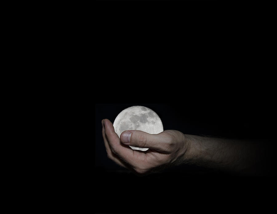 Youve Got The Whole Moon In Your Hand Digital Art