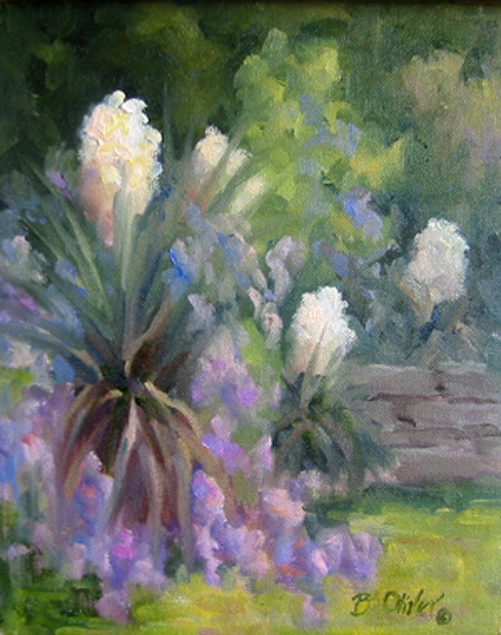 Yucca Painting - Yucca And Wisteria by Bunny Oliver