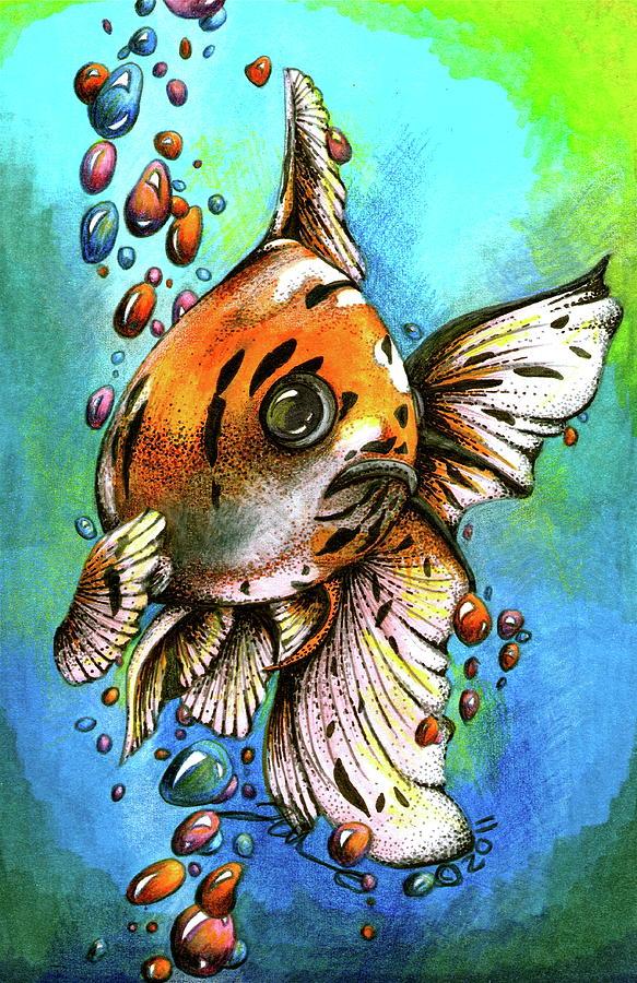Bubbles Drawing - Yuga by Jessica Nunno