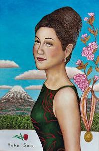 Portrait Painting - Yuka Sato by Stephen Warde Anderson