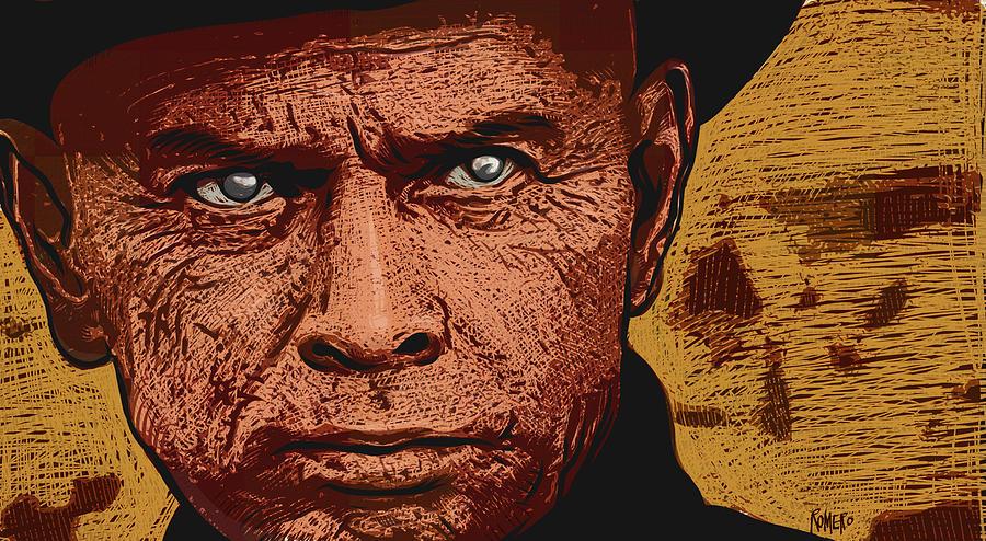 Westworld Digital Art - Yul Brynner by Antonio Romero