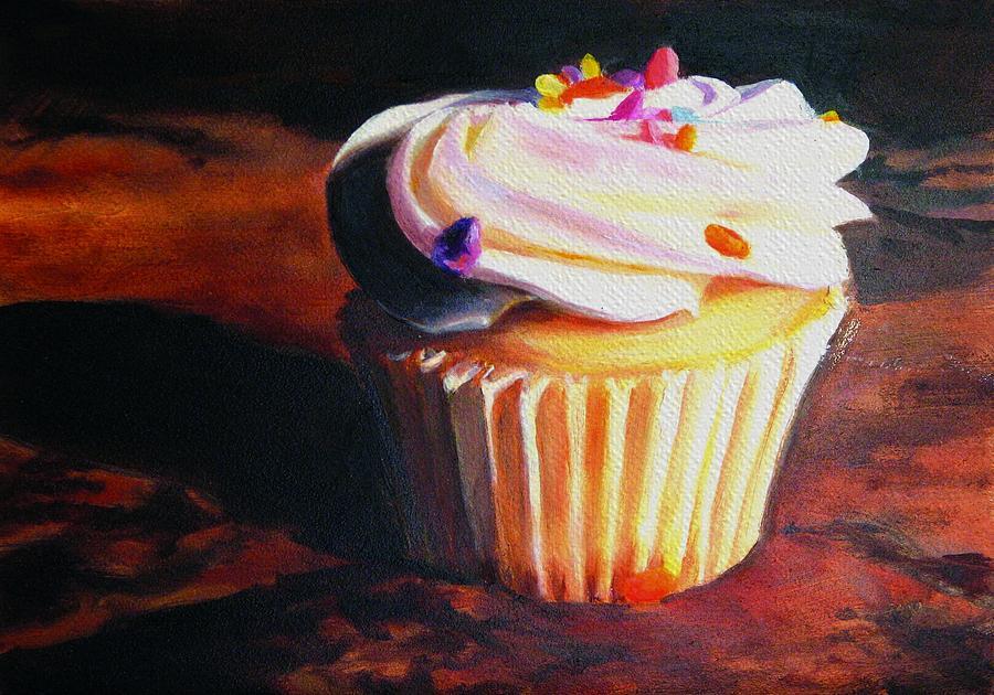Cupcake Painting - Yumm by Shari Jones