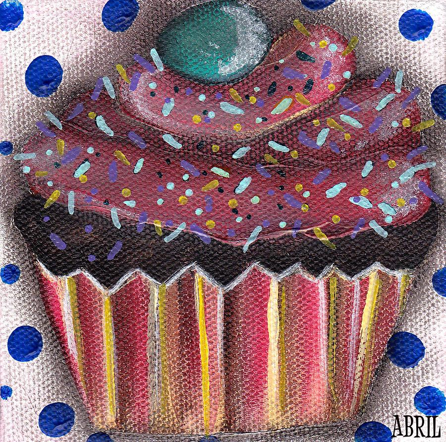 Cupcake Painting - Yummy 5 by  Abril Andrade Griffith