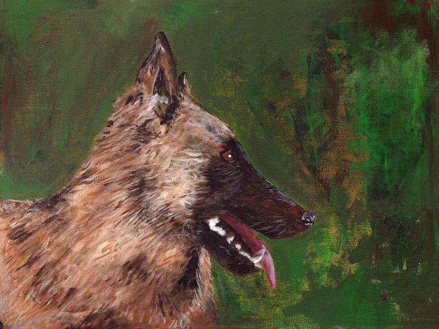 Dog Painting - Yuri by Matthew Daigle