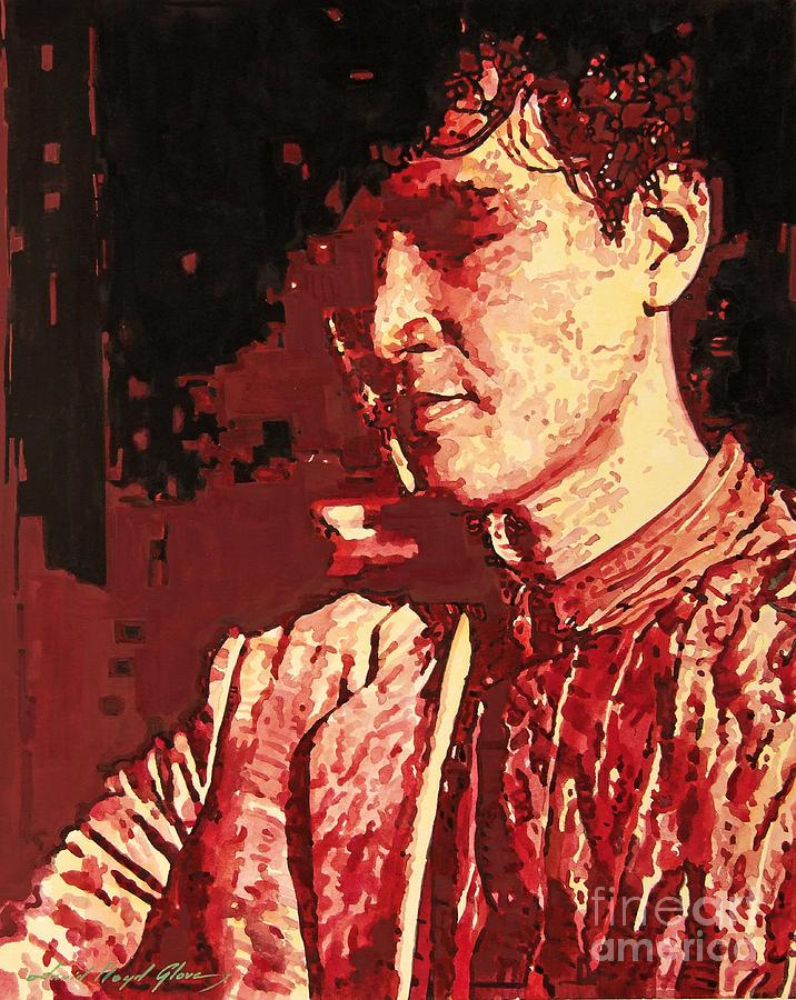Yusaku Matsuda Painting - Yusaku Matsuda by David Lloyd Glover