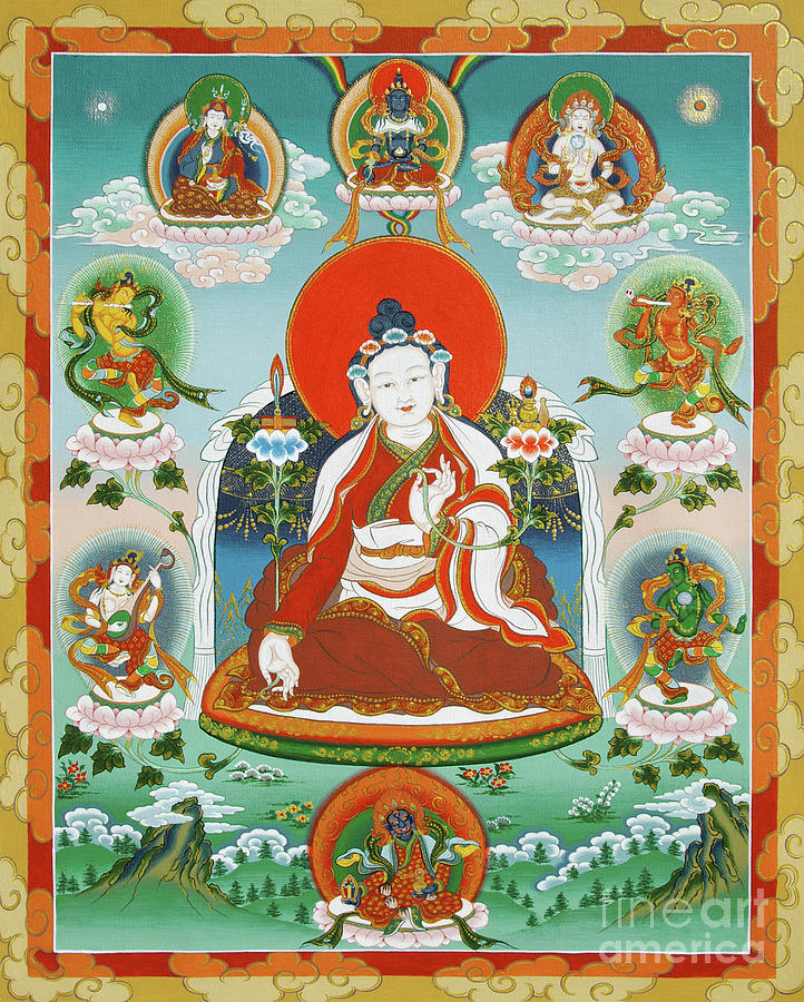 Padmasambhava Painting - Yuthok Bumseng With Retinue by Sergey Noskov