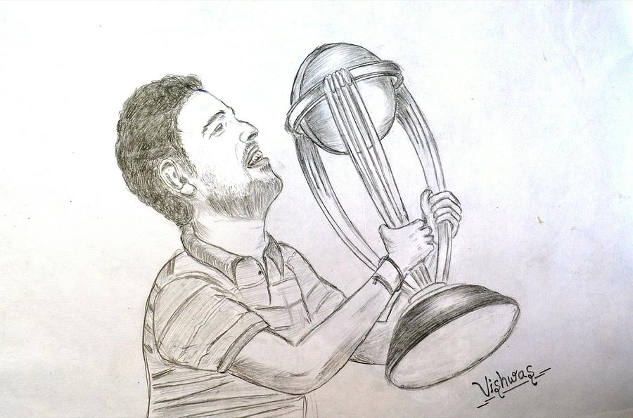 Yuvraj singh drawing by vishwas nagmode