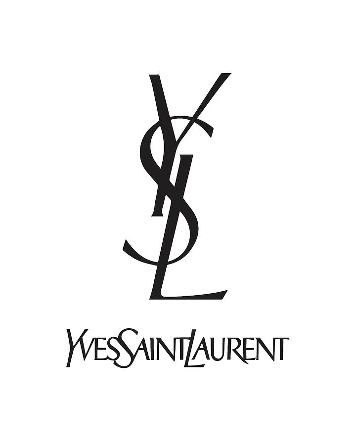 Yves Saint Laurent Digital Art - Yves Saint Laurent - Ysl - Black And White - Lifestyle And Fashion by TUSCAN Afternoon