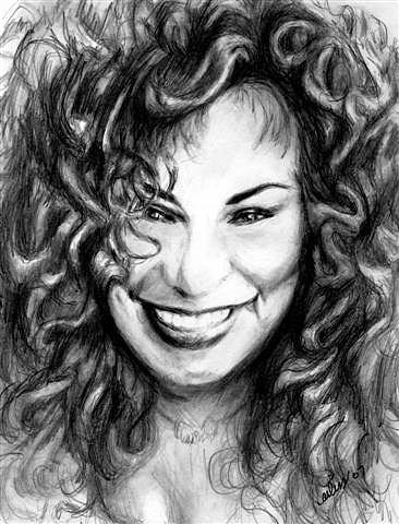 Yvette - Chaka Khan Drawing by Carliss Mora