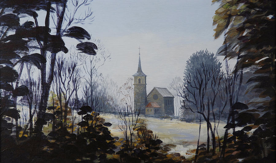 Church Painting - Yvoire Church by Robert Foster
