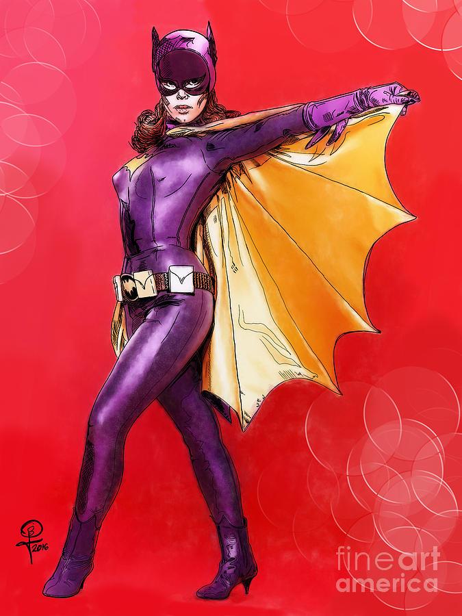 Batman Digital Art - Yvonne Craigs Batgirl by Joseph Burke