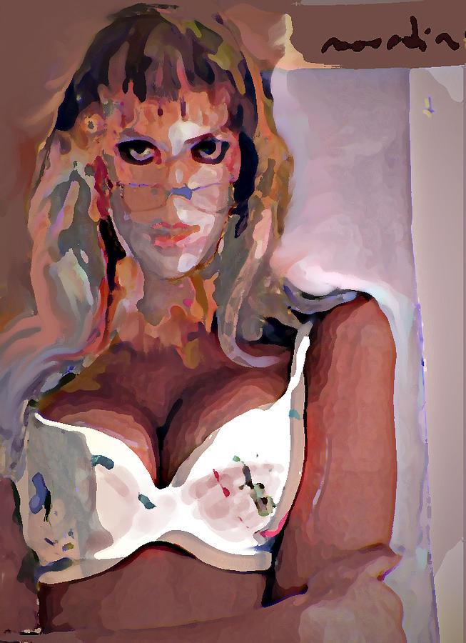 Portrait Mixed Media - Yvonne by Noredin Morgan