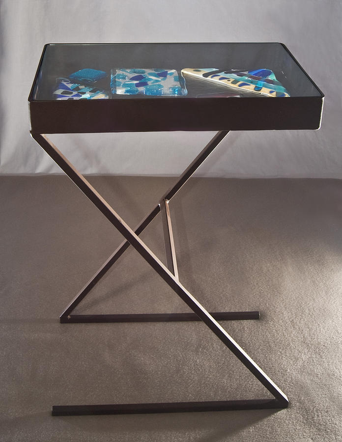 End Table Mixed Media - Z Table by Abbe Gore