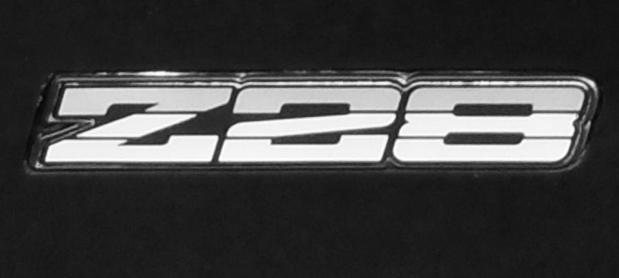 Logos Photograph - Z28 Logo Noir by Linda McAlpine
