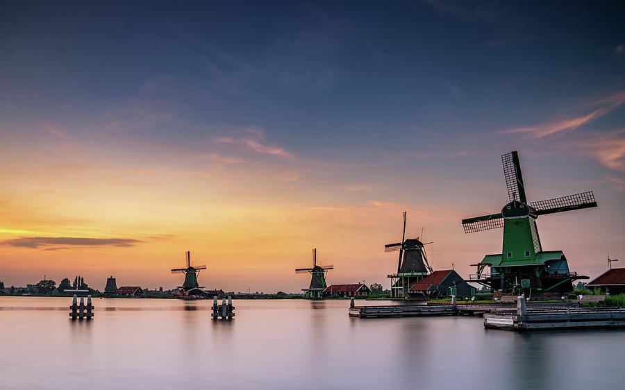 The Netherlands Photograph - Zaanse Schans Sunset by Framing Places