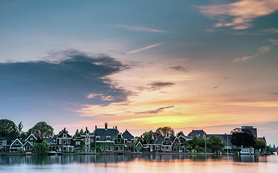 The Netherlands Photograph - Zaans Sunset by Framing Places