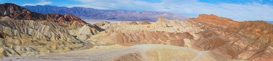Zabriski Point Panoramic by Tranquil Light Photography