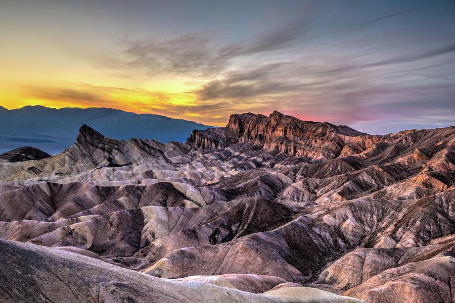Zabriskie Point Sunset by George Buxbaum