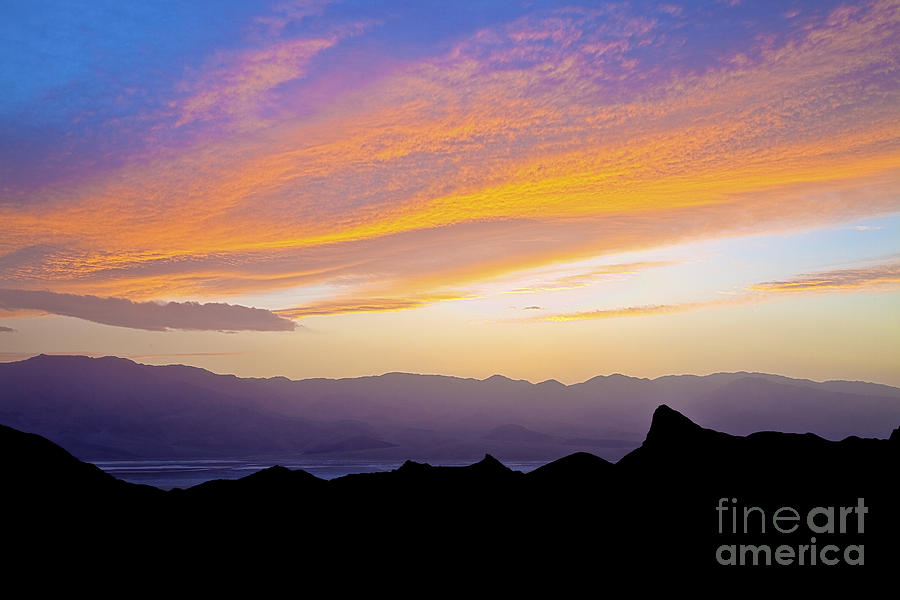 California Photograph - Zabriskie Silloutte by Greg Clure