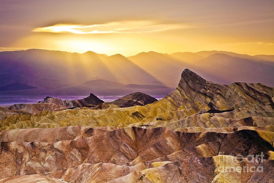 California Photograph - Zabriskie Sunset by Greg Clure