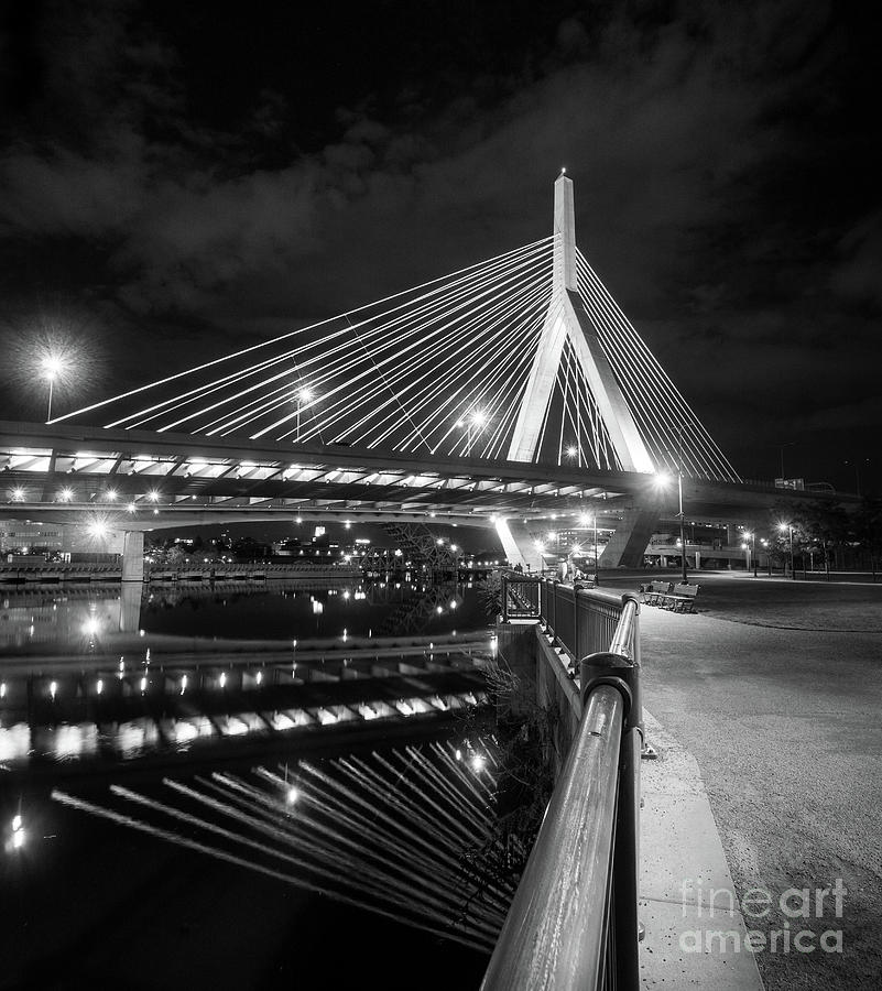 Zakim Bridge and Charles River, Boston, Massachusetts #92317 by John Bald