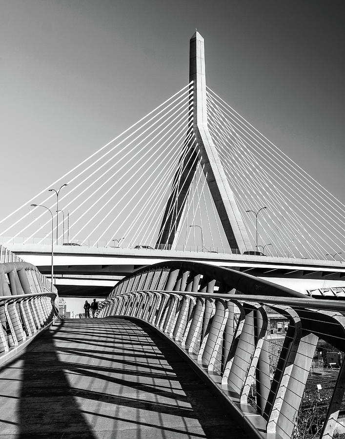 Zakim Bridge and Walkway Boston, MA by Betty Denise