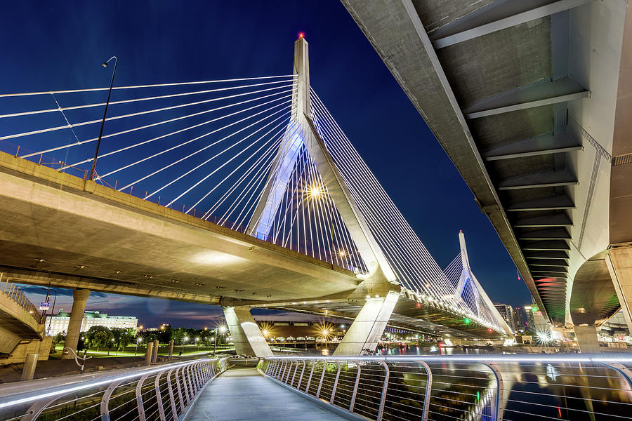Zakim Bridge From Bridge Under Another Bridge by Val Black Russian Tourchin
