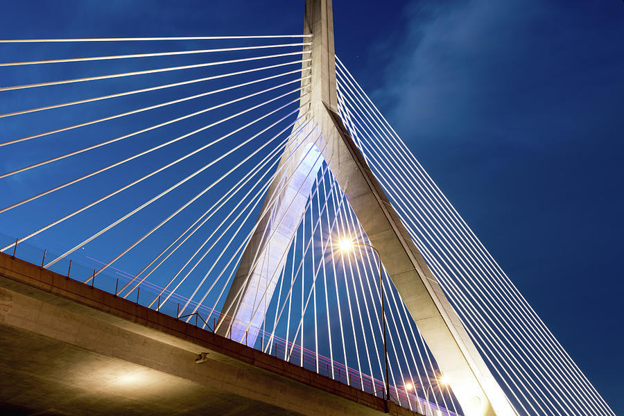 Zakim Bridge Upclose by Val Black Russian Tourchin