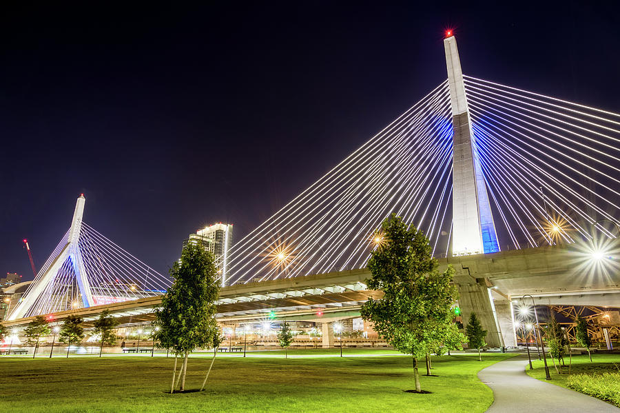 Zakim Bridge by Val Black Russian Tourchin