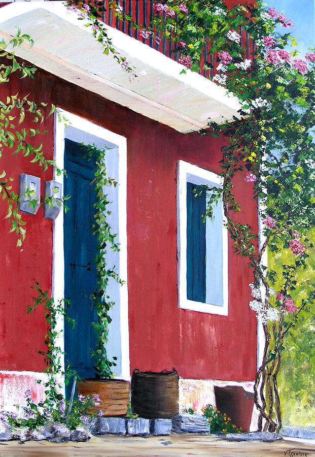 Landscape Painting - Zakinthos - Meso Gerakari by Lesuisse Viviane