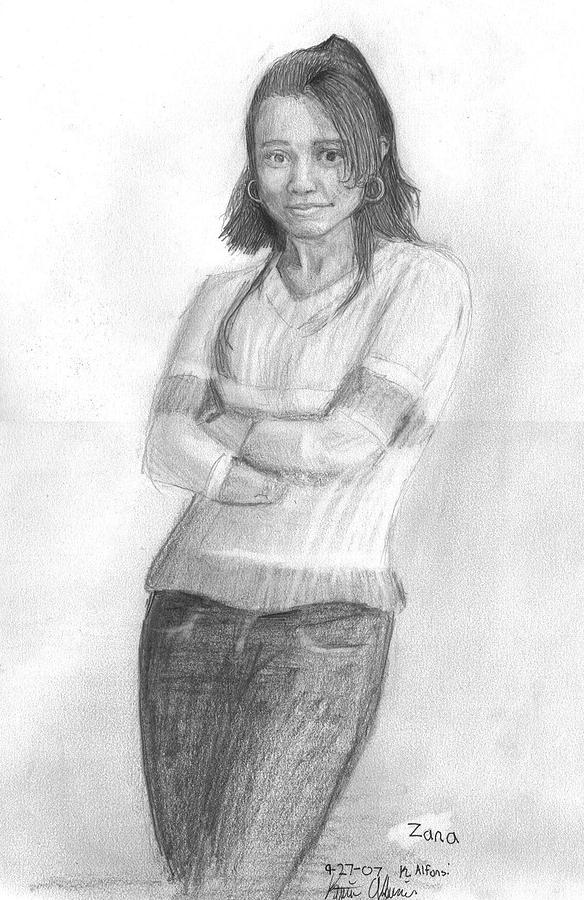 Zana Drawing by Katie Alfonsi