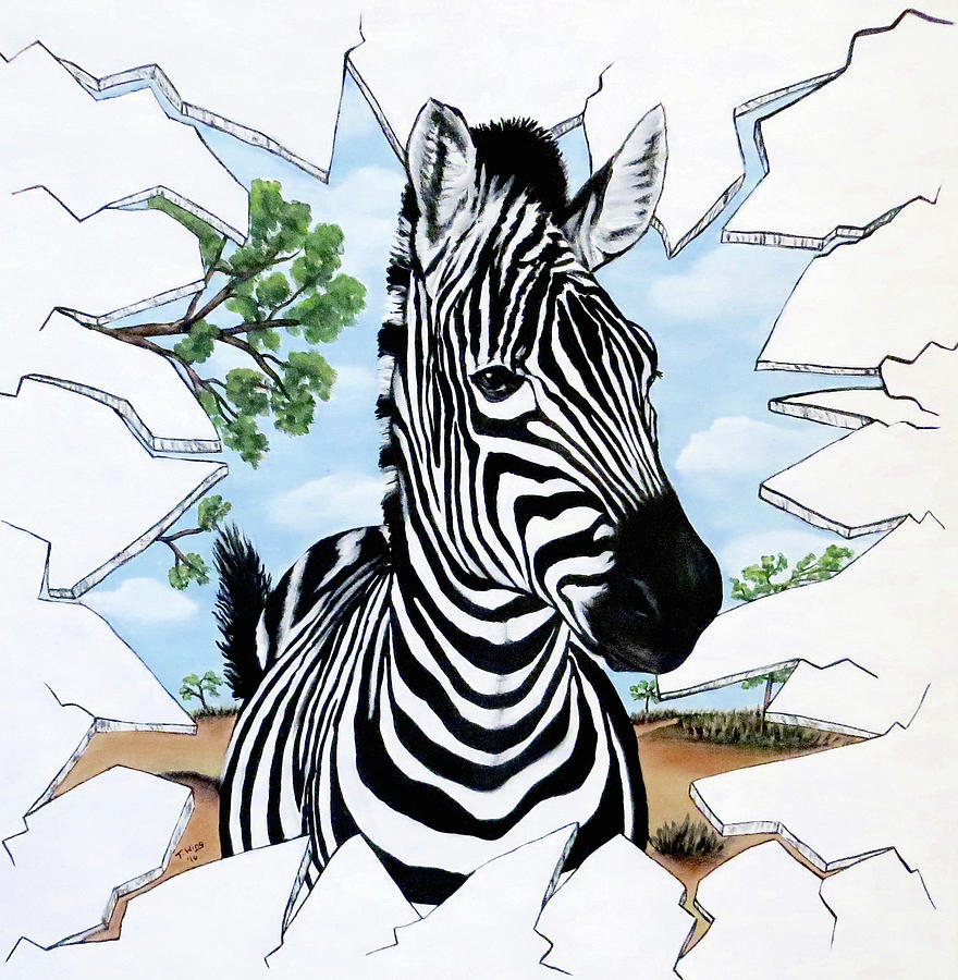 Zany Zebra by Teresa Wing