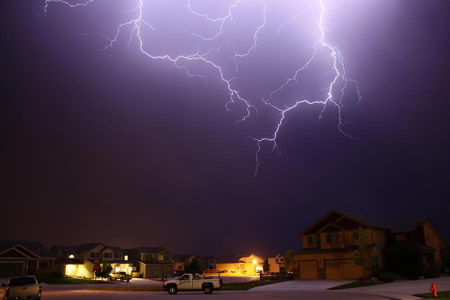 Lightning Photograph - ZAP by Shane Bechler