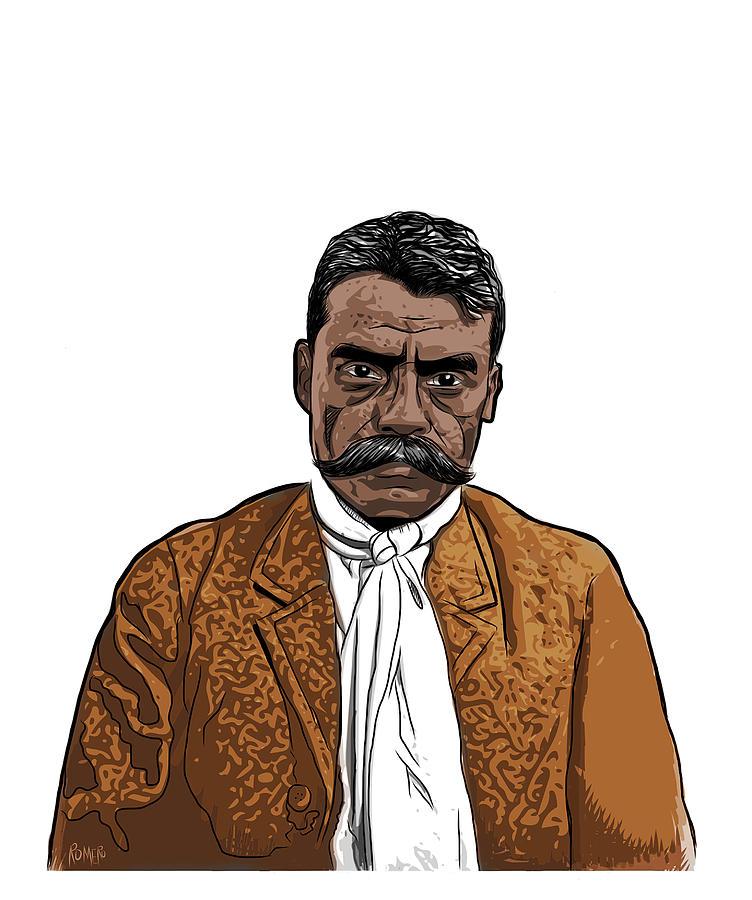 Emiliano Zapata Digital Art - Zapata by Antonio Romero