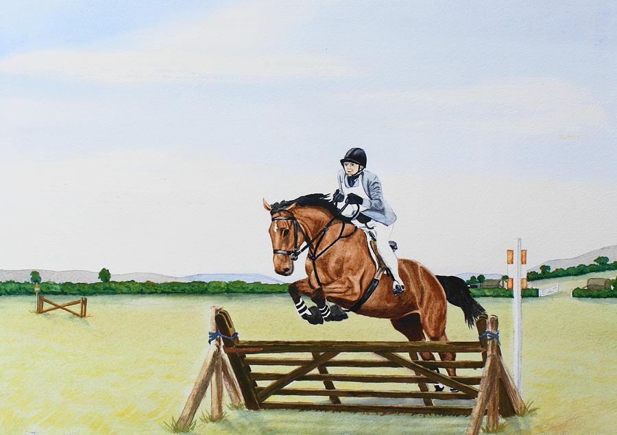 Horse Painting - Zara Ix by Frank Hamilton