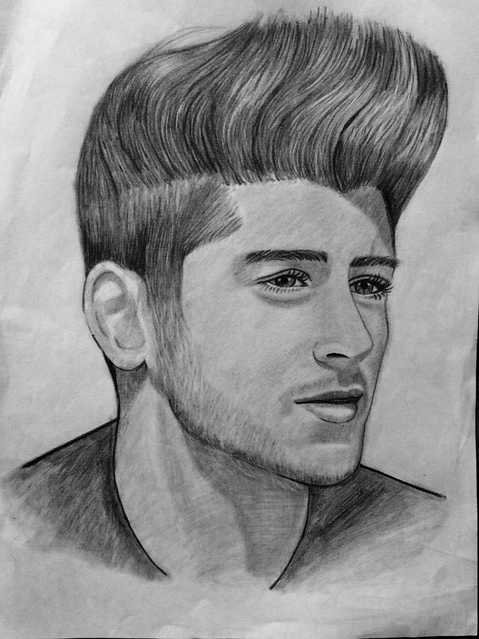 Zayn Malik Drawing By Krushi Reddy Yasa
