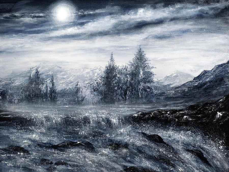 Montana Painting - Zealous Waters by Ann Marie Bone