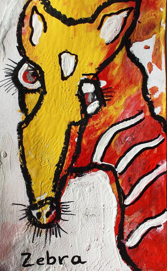 Zebra Painting by Annette Labedzki
