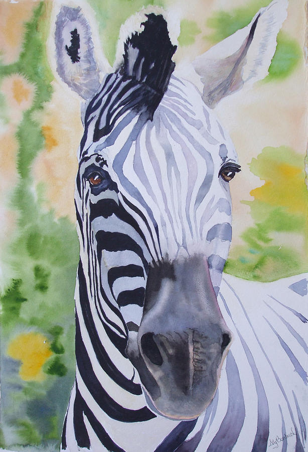 Zebra Painting - Zebra Crossing by Ally Benbrook