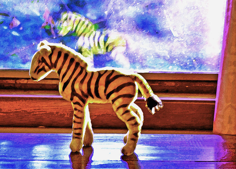 Zebra Photograph - Zebra Dreaming by Mary Chant
