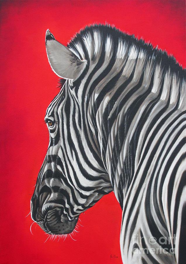 Wildlife Painting - zebra in African sun by Ilse Kleyn